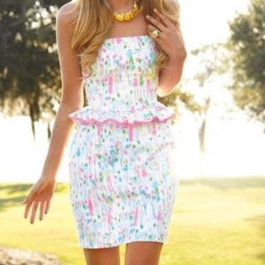 Lilly Pulitzer Pop Lowe Peplum Dress